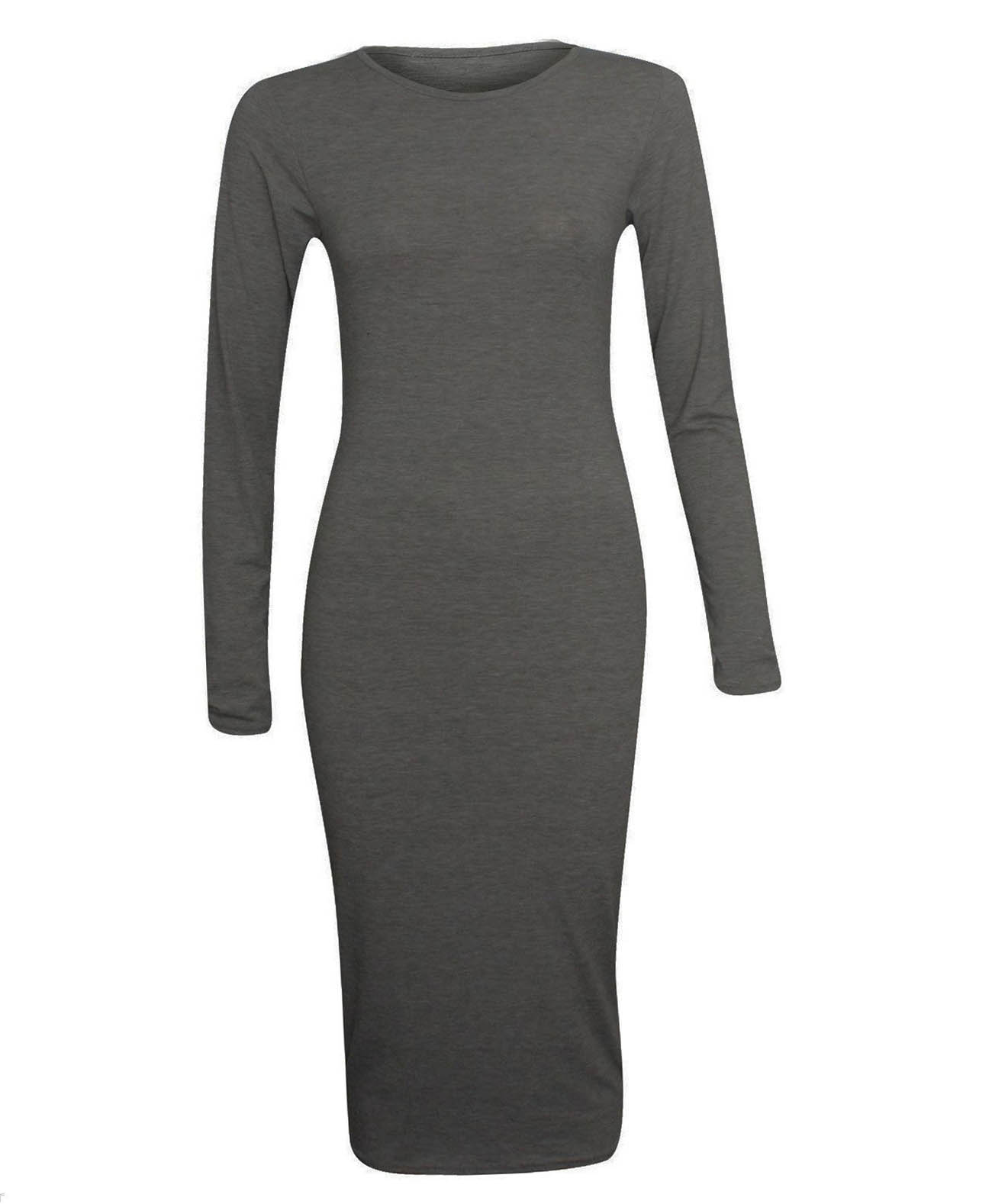 1507df8602c7 Long Sleeve Bodycon Dress Dark Grey – Soha MT Collection